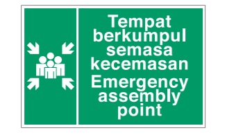 Safe Procedure And First Aid Signs Emergency Assembly Point