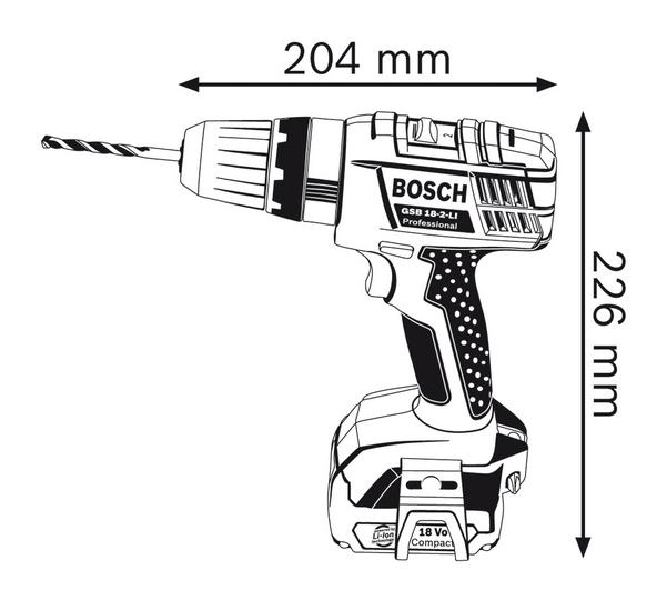816f3ceaca087 Bosch GSB 18-2-LI Professional Cordless Impact Drill – Innovest ...